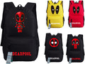 2017 New Deadpool Backpack Marvel Comics Superheros Shoulder School Bag For Teenagers Canvas  Backpack Travel Rucksack Mochila
