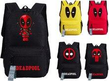 2017 neue Deadpool Rucksack Marvel Comics Superheros Schulter Schultasche Für Jugendliche Leinwand Rucksack Reise Rucksack Mochila