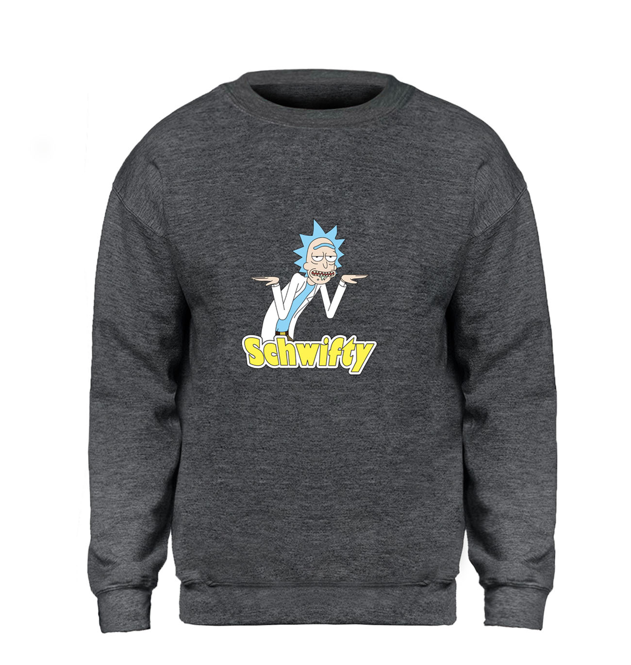 Rick and Morty Hoodie Men Schwifty Sweatshirt Funny Slim Crewneck Sweatshirts Winter Autumn Fleece Warm Harajuku Hoodies Mens