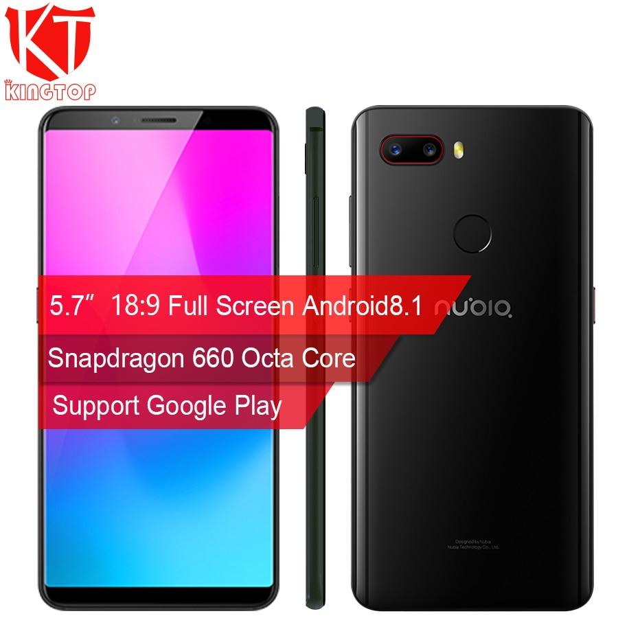 Original ZTE Nubia Z18 mini Mobile phone 5.7 6GB RAM 128GB ROM Octa Core 24MP+8MP Dual Rear Camera 19:8 Full Screen Fingerprint