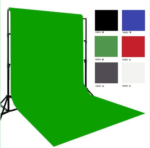 Nouveau fond de couleur unie gratuit 10ft * 20ft/3*6 m, fond de mousseline, fond de photographie Pro pour Studio photo, option 6 couleurs