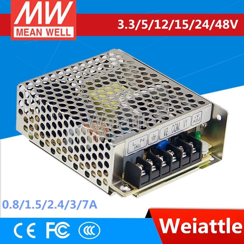 3.3V 5V 12V 15V 24V 48V MEAN WELL 0.8/1.5/2.4/3/7A 23.1/35/36/38W Single Output Switching Power Supply RS-35-15 RS-35-12 RS-35-5