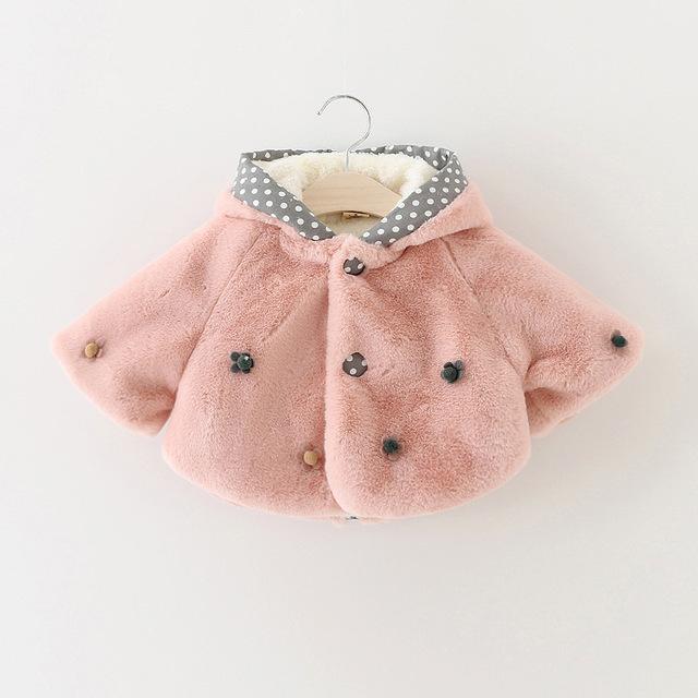2017 new girl outwear invierno abrigos de lana gruesa super suave bebé faux fur coat niños clothing 1-2-3 años 1131