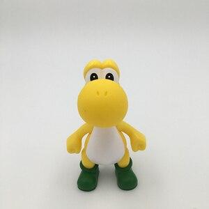 Image 5 - 5 יח\סט 5 אינץ 12CM PVC יושי סופר מריו Bros פעולה דמויות 5 צבעים מריו צעצועים קלאסיים משלוח חינם
