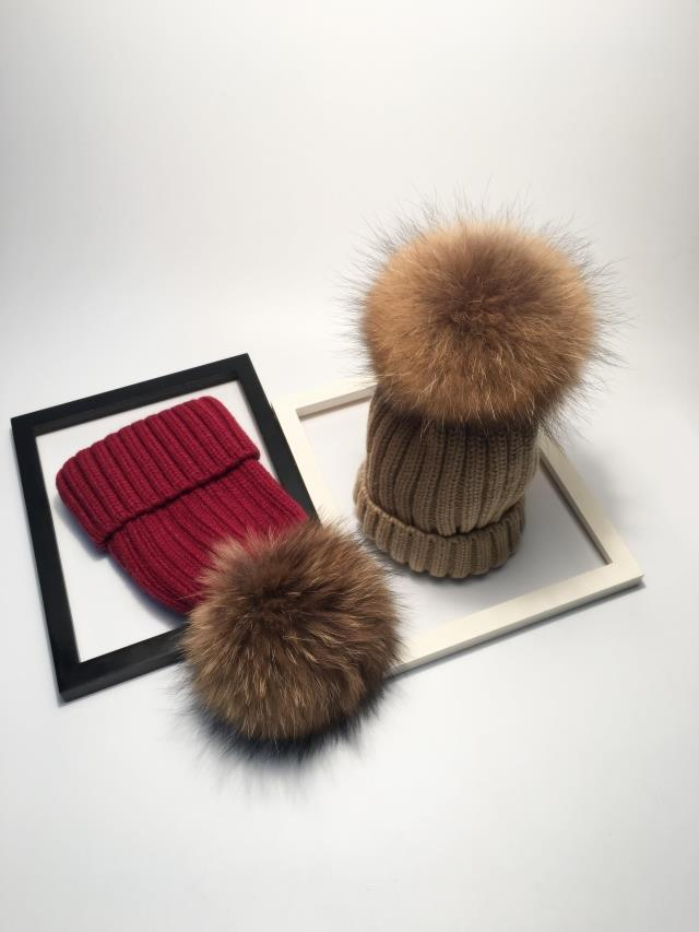 winter hats for women pom pom hat  (2)