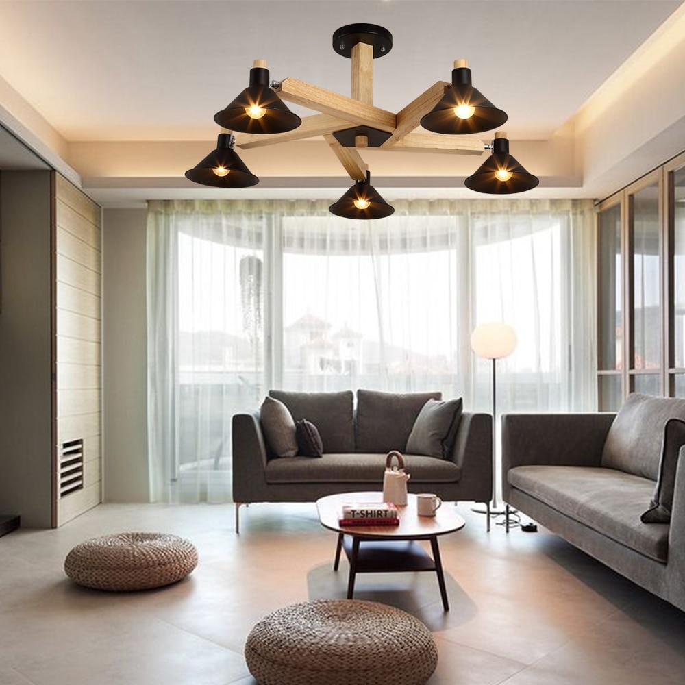 Nordic Design Moderno LED Bianco Nero di Legno Lampadari ...