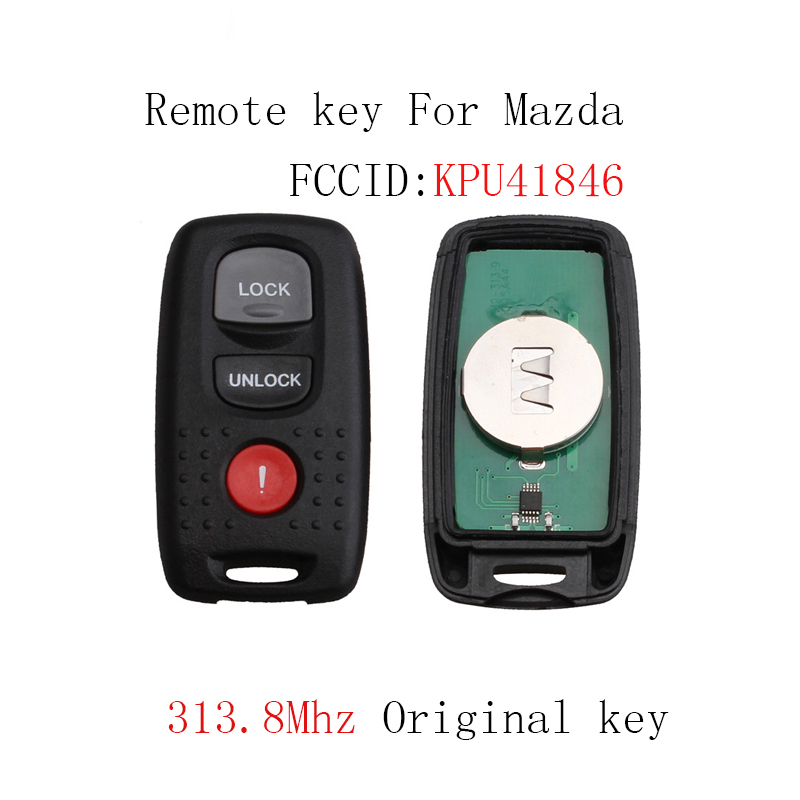 313.8Mhz Remote Car key For <font><b>Mazda</b></font> <font><b>3</b></font> <font><b>2004</b></font> 2006 2006 For <font><b>Mazda</b></font> 6 2003 <font><b>2004</b></font> 2005 For <font><b>Mazda</b></font> <font><b>3</b></font> 6 KPU41846 Original key image