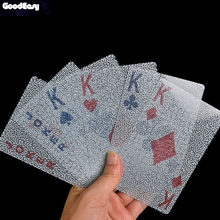 Magic Creative Large Transparent Waterproof Plastic Playing Cards Poker Party Activities Magic Show Cards Gift Leisure Game(China)