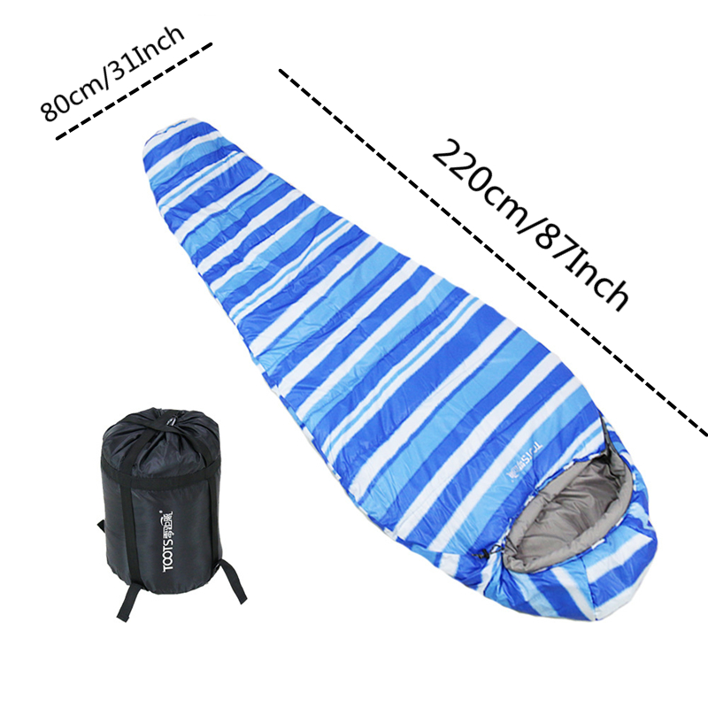 Image 2 - VILEAD 3 Colors Mummy type Ultralight Sleeping Bag Portable Waterproof Hiking Camping Stuff Adult Sleep Bed Quilt Lightweight-in Sleeping Bags from Sports & Entertainment