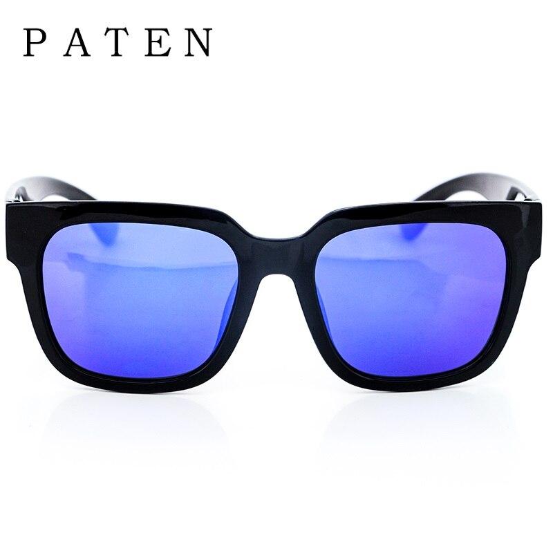 Lentes de espejo de Plata Negro Azul púrpura Cuadrado Grande Tr90 ...