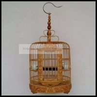 1 set 26 30 34 36cm bird cage old bamboo high grade carved thrush cage