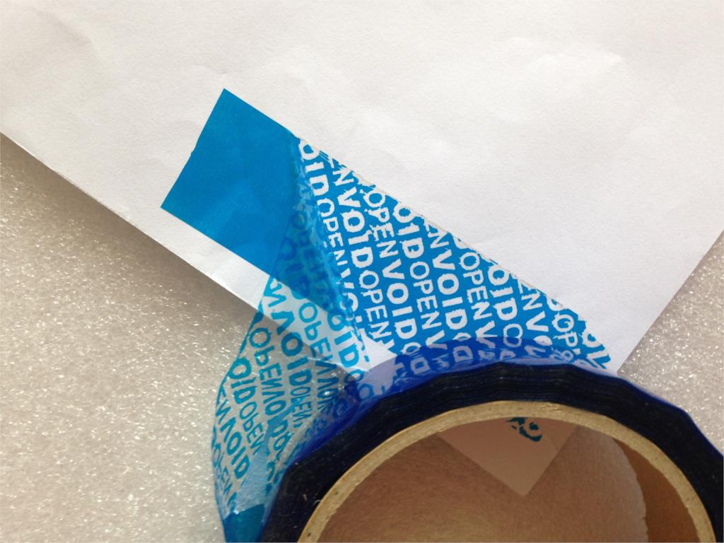 Office Adhesive Tape Selfless 1pcs Free Shipping Bopp Pet Single Tape Tamper Evident Packaging Tapes Anti-counterfeit Label Void Open Security Seals 30mm*15m Various Styles