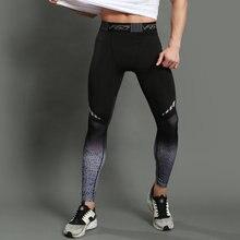 Mens Gym Compression Leggings Sport Training Pants Men Running Socks Sportswear Dry Fit Jogging