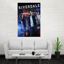 Nice Riverdale Poster Custom Canvas Poster Art Home Decoration Cloth Fabric Wall Poster Print Silk Fabric Print motto print cloth art
