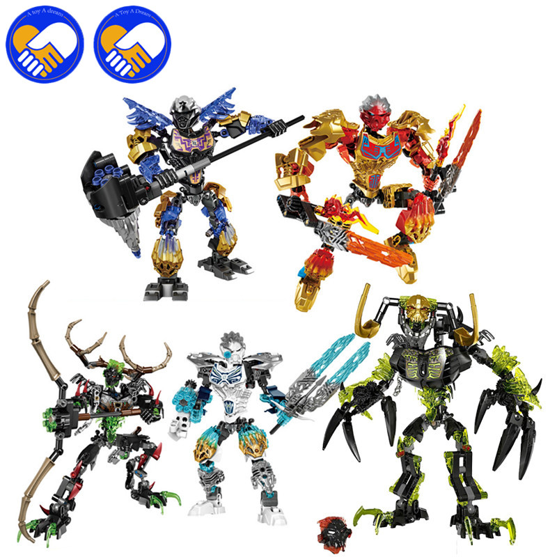 BionicleMask of Light Skull Tahu,Onua,Hunter,Melum,Slicer Bionicle Umarak the Destroyer Kopaka Uniter of Ice Building Block Toy lego bionicle 71309 онуа объединитель земли