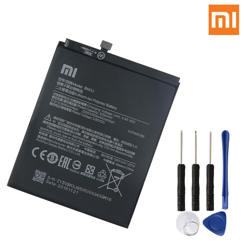 Xiao Mi Original Replacement Phone Battery BM3J For Xiaomi 8 Lite MI8 Lite Genuine Rechargeable Battery 3350mAh-in Mobile Phone Batteries from Cellphones & Telecommunications
