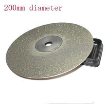 200mm  60/80/180/280/400 grit kItchen Knife diamond plate whetstone round  Diamond chassis sharpener for knife polishing tools
