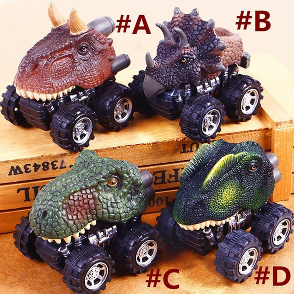 Collectible Childrens Day Gift Toy Dinosaur Model Mini Toy Car Pull Back Cars Model Kids Toys for Boys