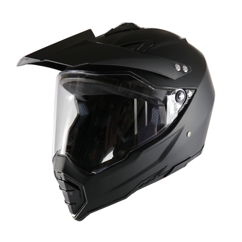 Motorcycle helmet road cross country racing dual-use lens cross country helmet grind black Road cross-country Motorbike