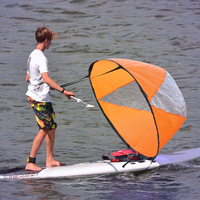 46 Big Size Clear Window Wind Sail Kayak Rowing Paddles Surfboard Sup Board Water Sports Surf Island Boat Accessories