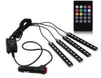 4pcs Car RGB LED Strip Light 16 Colors Car Styling For Chevrolet Cruze Trax Vw Golf