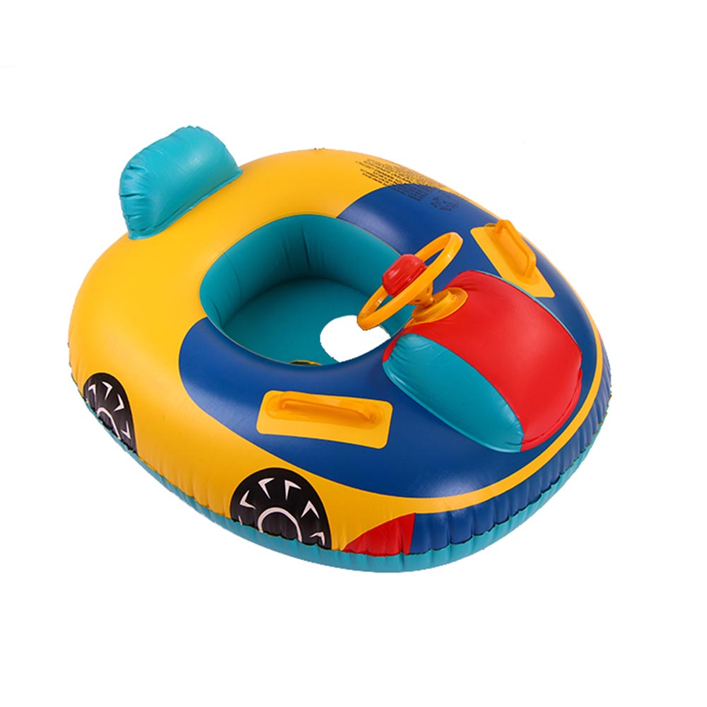 MrY Inflatable Ride-ons Babies Child Toy Of Inflatable Swimming  Seat Float Boat Wheel Horn Baby Pool Swim  Car Shape Aid Trainer