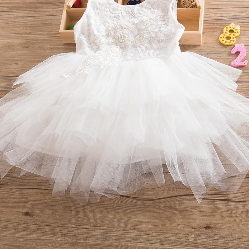 HTB1yT78d8jTBKNjSZFuq6z0HFXaC Summer Dresses For Girl 2018 Girls Clothing White Beading Princess Party Dress Elegant Ceremony 4 5 6 Years Teenage Girl Costume