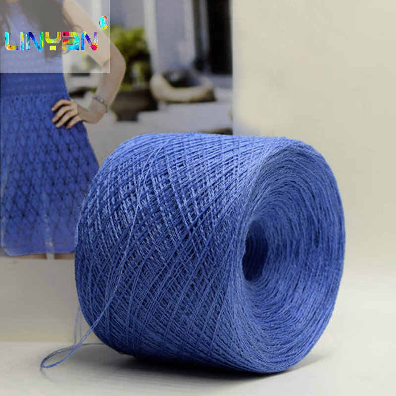 500g*1 pieces Yarns crochet 100% natural linen Dyeing colorful Hand Knitting Yarn For Knitting& Crocheting kyrie thread DIY t52