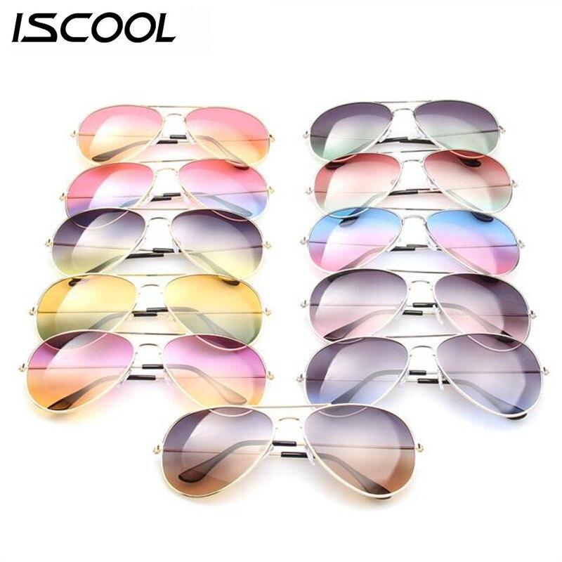ISCOOL 2016 D été Rétro Pilote lunettes de Soleil Femmes Hommes Multicolore  Lunettes Femme Lunettes UV400 Oculos Gafas De Sol Points Soleil En Verre 706c3a4188a5
