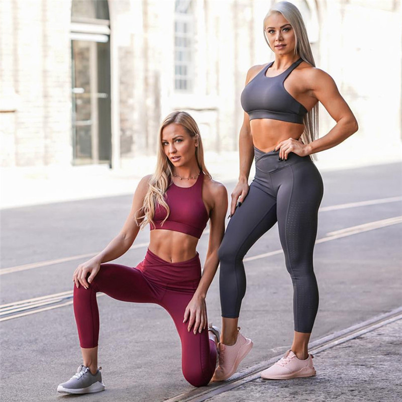 a36c60f4662 Detail Feedback Questions about Vutru yoga sets solid color yoga tight  solid color suit moisture yoga clothes sports running suit women on  Aliexpress.com ...
