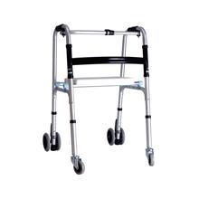 Ходунки из алюминиевого сплава, складные ходунки с табуретом и колесами для пожилых людей