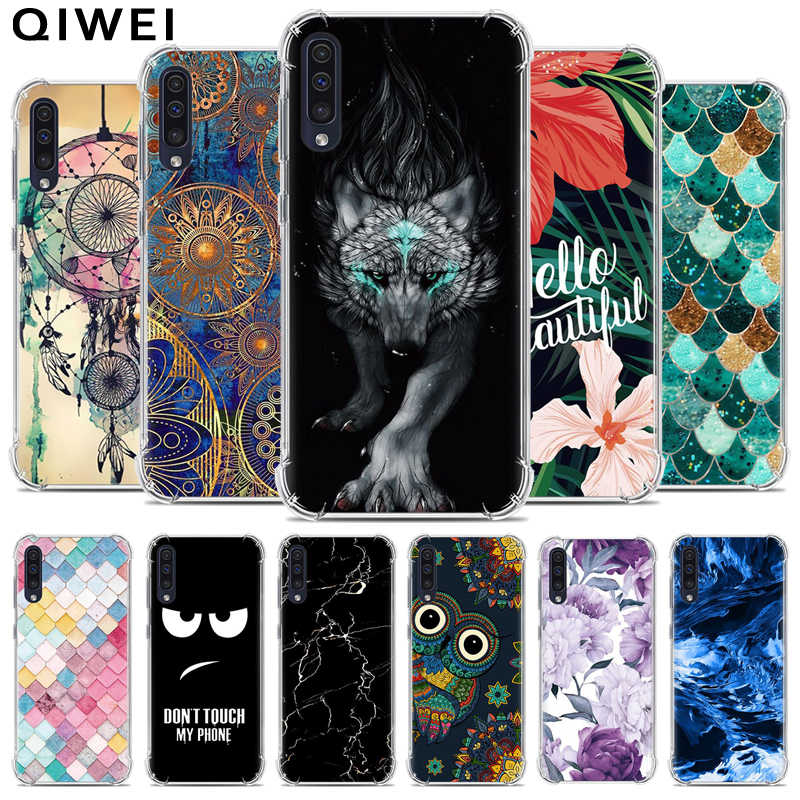 For Samsung A50 Case 6.4 Cartoon silicone Soft TPU Back Cases For Samsung Galaxy A50 Case A 50 A505F A505 Phone Cover Coque 2019