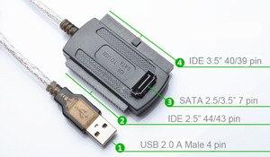 """Дополнительный 3-в-1 USB 2,0 для IDE/SATA 2,5 """", 3,5"""" жесткий диск HDD SSD 480 МБ/с. S интерфейс передачи данных Кабель-адаптер"""