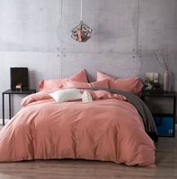 Luxury 100% Egyptian cotton bedding sets bed sheets linen bedspreads Pink king queen size double full quilt duvet cover bedsheet