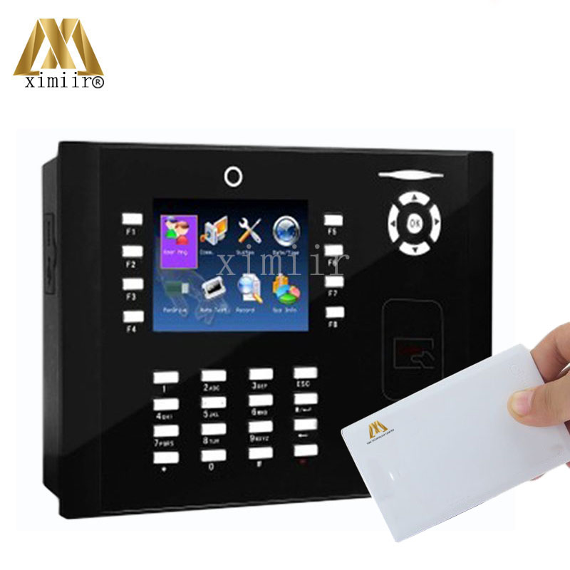 M880 Color TFT Screen Time Attendance Device With 13.56MHz MF Card Free Shipping 50000 Card Capacity Time Recording