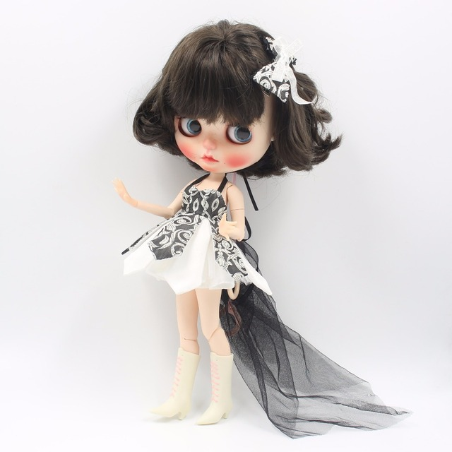 Neo Blythe Doll Beautiful Dress With Bow