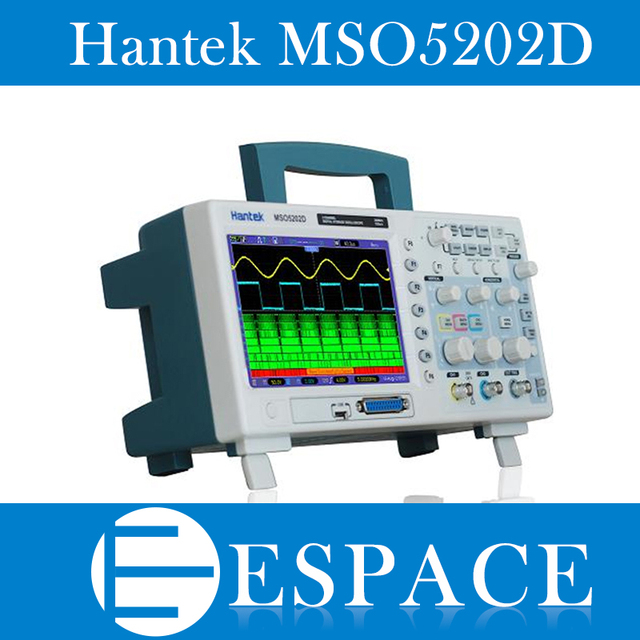 Hantek MSO5202D 200MHz 2 canales 1GSa/s osciloscopio y 16 canales analizador lógico 2 en 1 USB,800x480 envío gratis