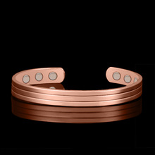 HOMOD Rose Gold color  Magnetic Copper Bangle Bracelet Healing Bio Therapy Arthritis Pain Relief Jewelry