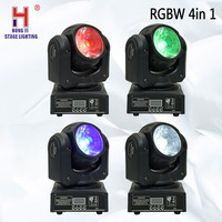 moving 60w LED Moving Head RGBW 4in1 Beam led dmx 512 control mini dj diso moving heads 4 pieces/lot