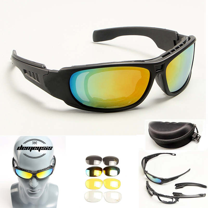 Tactical Goggles Sunglasses Men Military DAISY X7 C6 C5 Sun glasses for Mens War Game Tactical Glasses Outdoor
