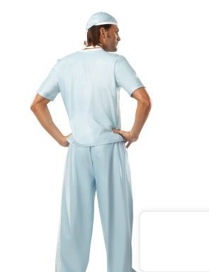 DOCTOR ADULT COSTUME FANCY DRESS UP PARTY E.R SURGEON
