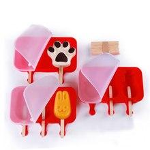 Форма для мороженого 2/3 ячеек DIY Мороженое Форма для мороженого держатель с Деревянными Палочками форма мороженое на палочке лоток сковорода кухонные инструменты