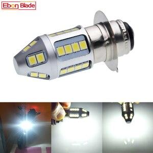 Image 1 - 1Pcs 3030 30SMD P15D 25 1 H6M Dual Brightness LED Motorcycle Motor Bike/Moped/Scooter/ATV Headlight Head Lamp Bulb Lights White