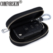 COMFORSKIN Guaranteed Luxurious Genuine Leather Key wallets New Arrivals Cowhide Case For Cars Litchi Pattern Wallets