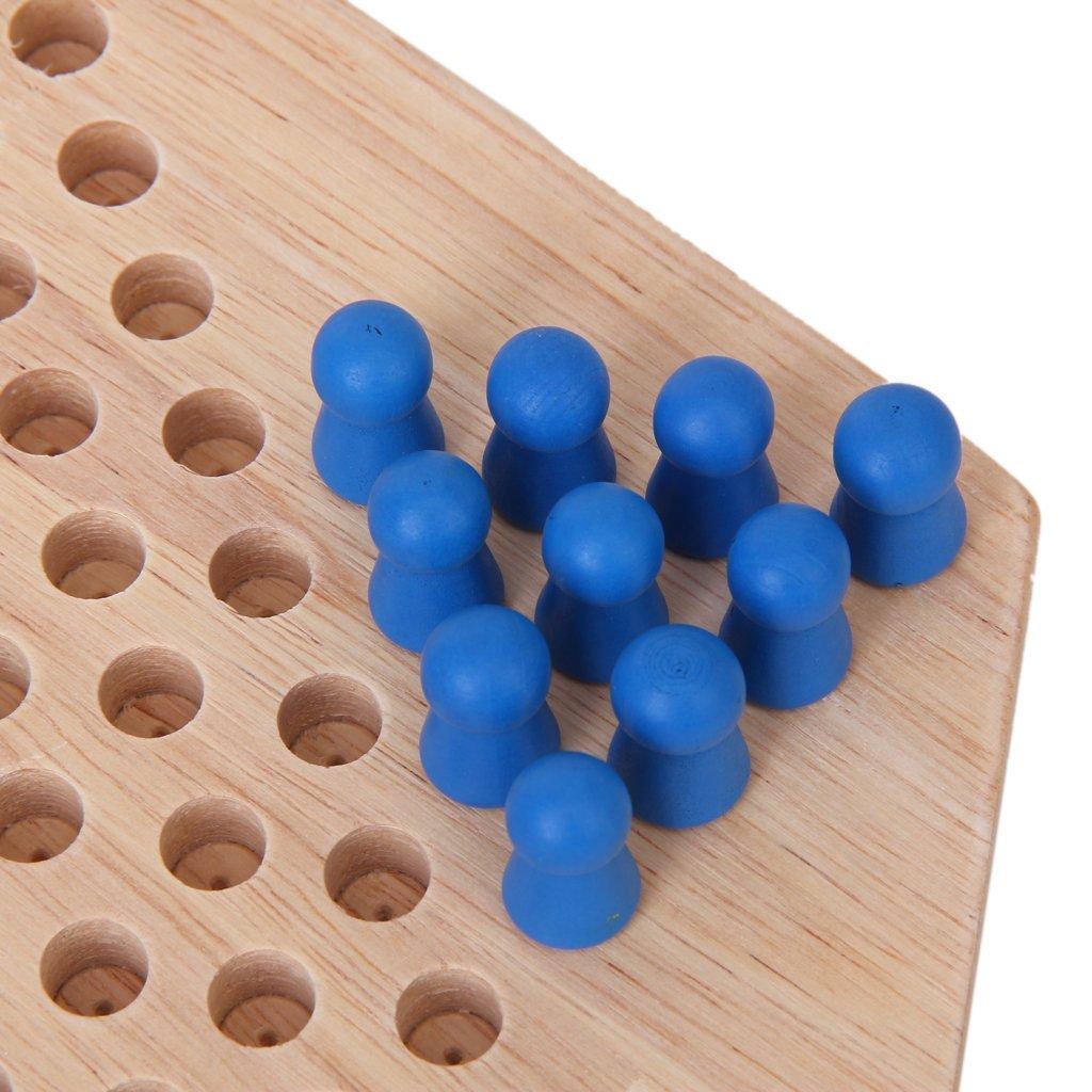 Традиционный шестигранный деревянный китайские шашки Семья игровой набор