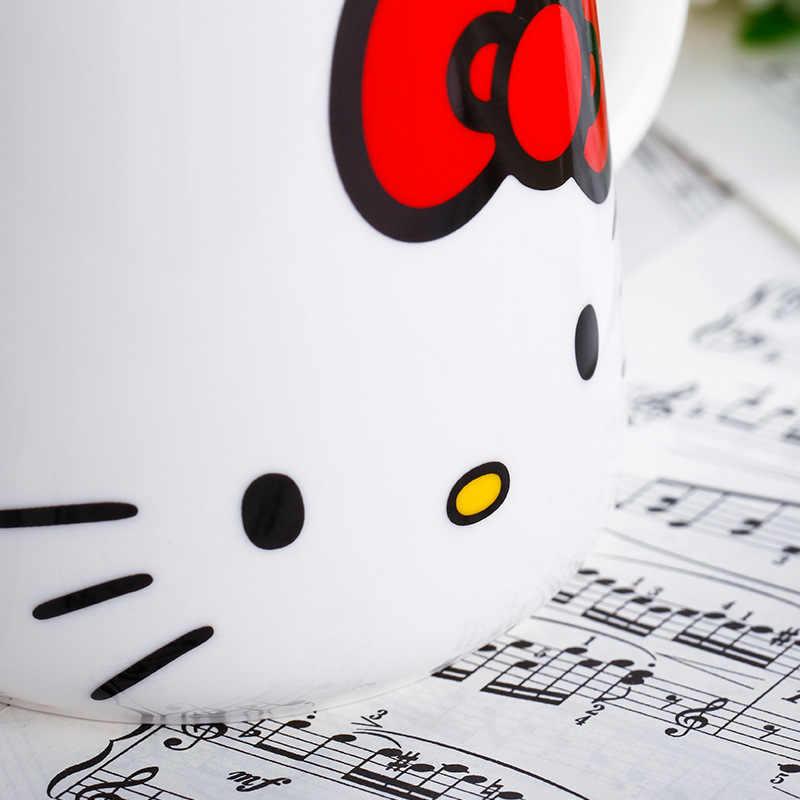 834874ecb ... Kawaii Cartoon Hello Kitty Cat Milk Coffee Mug Star Caneca Copo Creative  Tea Fancy Cups Gifts ...