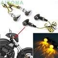 Universele Motorcycle Chrome Bullet Richtingaanwijzer Voor Harley Chopper Bobber Custom 12 V LED Knippert Indicator Lamp E- mark E11