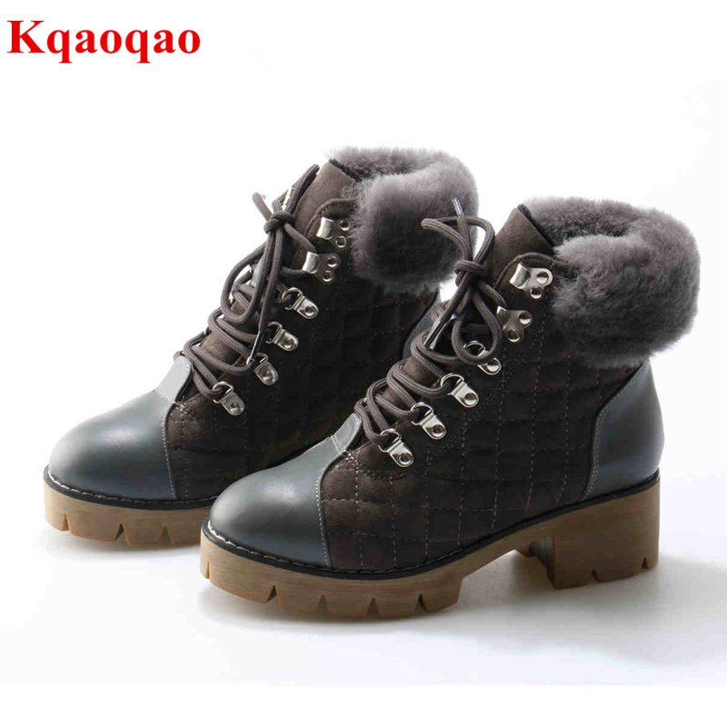 Women Winter Warm Boots Round Toe Short Booties Front Lace Up Snow Boots Med Heel Women Shoes Luxury Brand Metal Decor Star Boot designer luxury designer shoes women round toe high brand booties lace up platform ankle boots high quality espadrilles boot