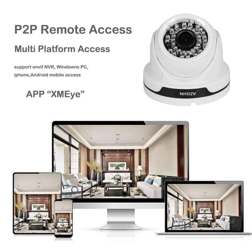 AZISHN H.265/H.264 IP Камера Широкий формат 1080 P 2MP ONVIF P2P 36IR обнаружения движения RTSP оповещения XMEye DC/POE видеонаблюдения купольная