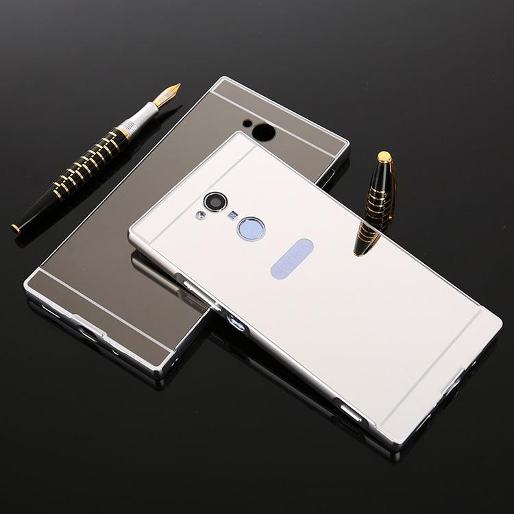 , Luxury Gold Plating Aluminum Metal Mirror Case For Sony Xperia XA2 / XA2 Ultra Phone Case Back For Sony XA2 XA2 Ultra case